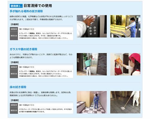 バブルウォーターPRO商品特徴の説明